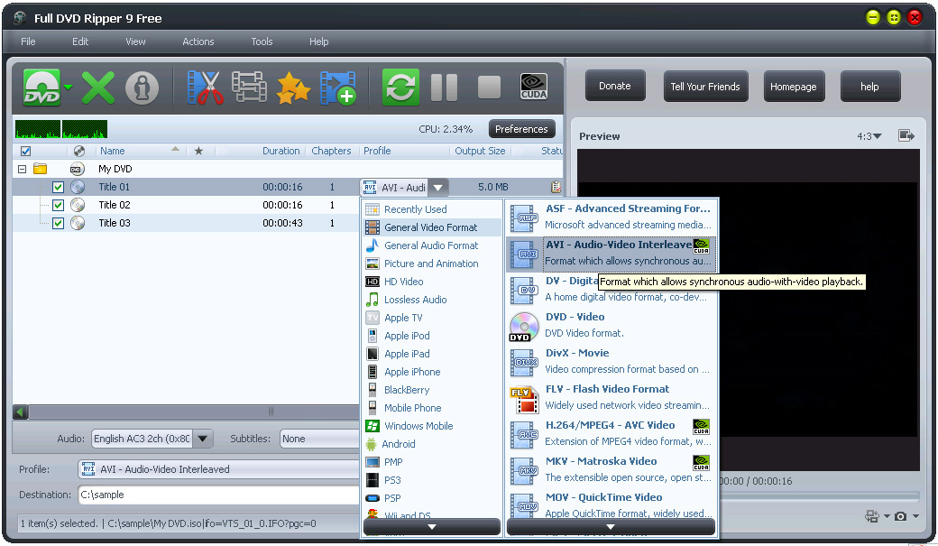 SFBKK: Full DVD Ripper 9 Free - Convert and Edit DVD to Any Video Formats