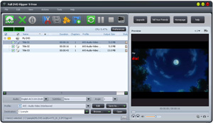 Full DVD Ripper 9 Pro Software Interface